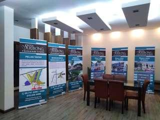 Roll up banting & banner