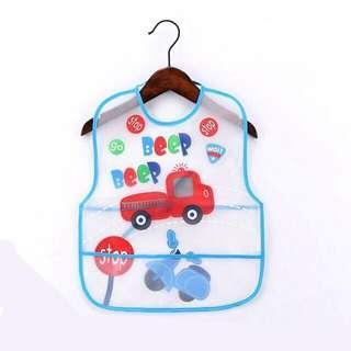Cute Soft Waterproof Baby Bib (Car Design)