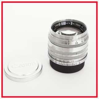 Canon 50mm F1.8 LTM Rangefinder Lens (Leica Screw Mount)