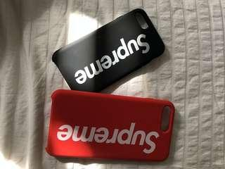 Supreme Red and Black iPhone Covers Plus and 6s/7/8