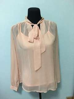 Folded and Hung Sheer Blouse