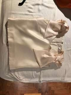 Pretty cream top for work and evening occasion