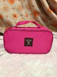 全新粉紅旅行收納袋3個