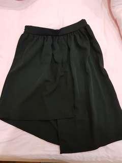 Irregular Black Skirt