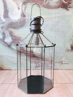 Octagonal Glass Lamp