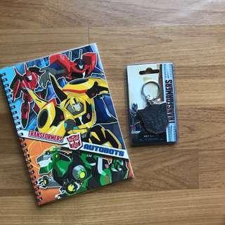 🆕💯 Transformers Notebook + Keychain Set