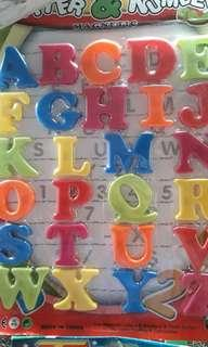 Letter and number ref magnet set