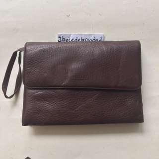RONS leather clutch  tas tangan