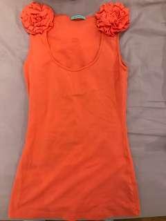 Orange flower top