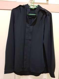 Navy blue blouse(New)