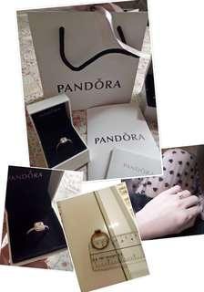 Authentic Pandora Ring Rose Gold