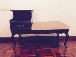 Side table with seat