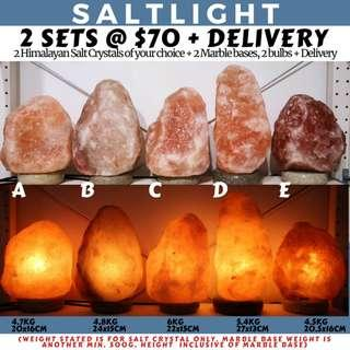 🚚 Authentic Himalayan Salt Crystal Lamps | 2 full sets with home delivery
