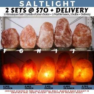 🚚 Authentic Himalayan Salt Crystal Lamps