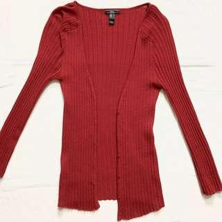 MNG Red Cardigan