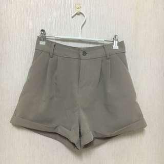🚚 超質感可可色西裝短褲