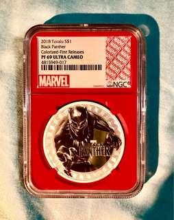 Black Panther $1 Tuvalu 2018 NGC Graded PF69 (First Release)