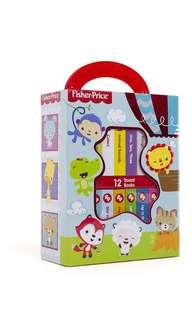 BN Fisher Price My First Library 12 Board Book Box Set