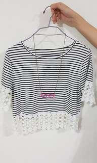 🚚 Striped Top and Necklace