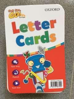 全新正版Oxford Get Set Go Letter Cards capital letter small letters