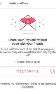 free $5 paylah