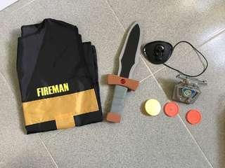 Halloween costumes Party Dressing (Fireman set)