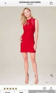 Bebe Lacey Red Dress