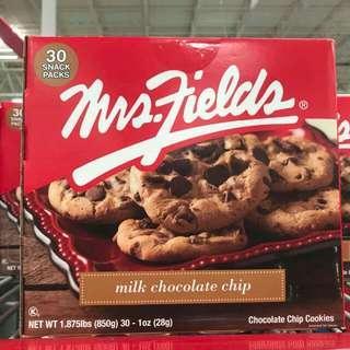 美國進口🇺🇸Mrs. Fields 牛奶朱古力曲奇(30塊/盒)
