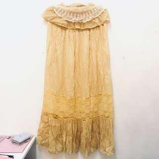 Pleated Maxi Skirt/ Tube dress