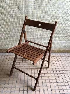 可摺式 實木椅