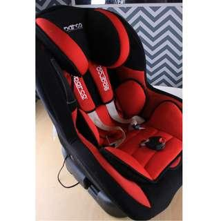 Sparco - F500K Convertible Car Seat - Red & Black (0-18kg)