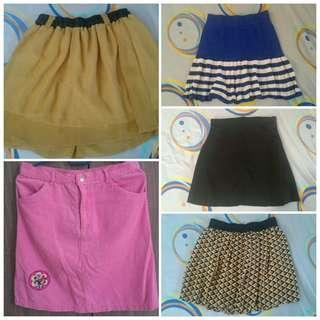 Preloved Skirts for RM5 #bundlesforyou