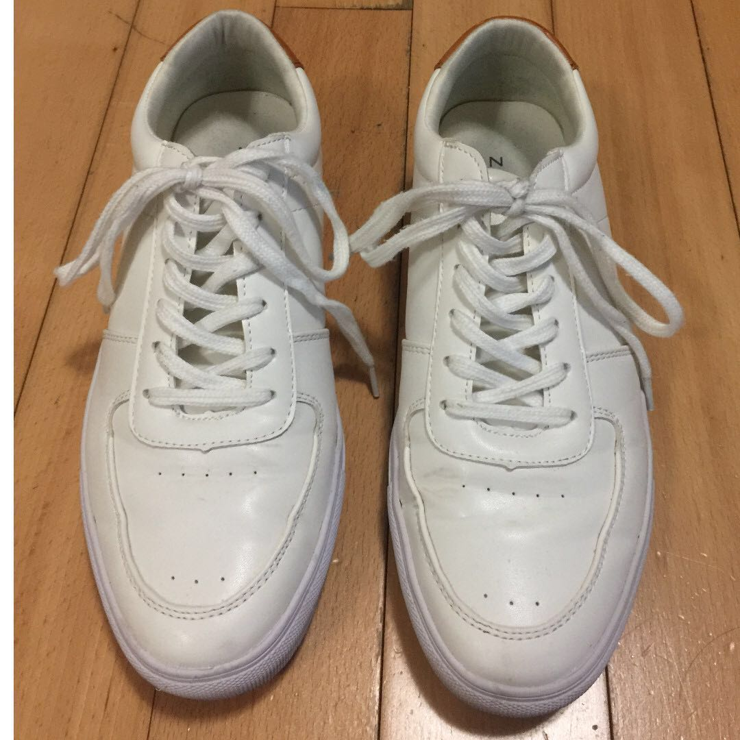 new style d5410 b402c (90% New) Zalora Contemporary Faux Leather White Casual Sneakers/Shoes