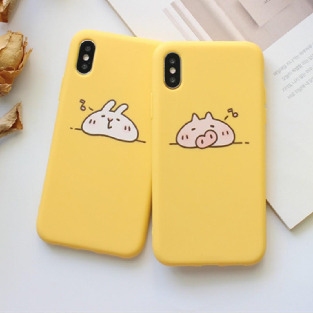 c5fdc2c91f ✨ cute cartoon couple phone case (sleeping rabbit & pig), Mobile ...