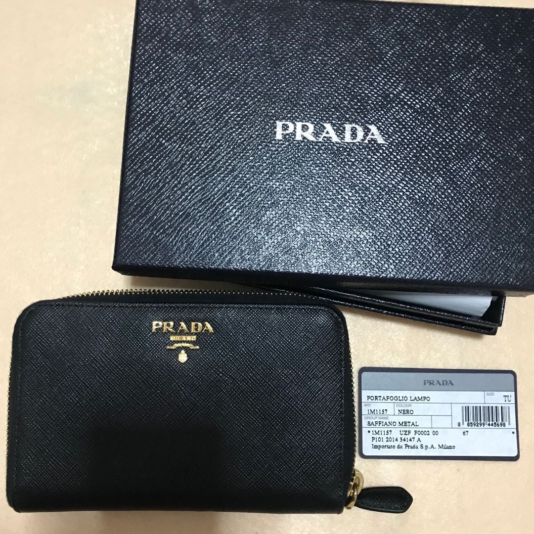 7fe0de51da85 🔥 NEW Prada Saffiano Metal 1M1157 Wallet in Nero, Women's Fashion ...