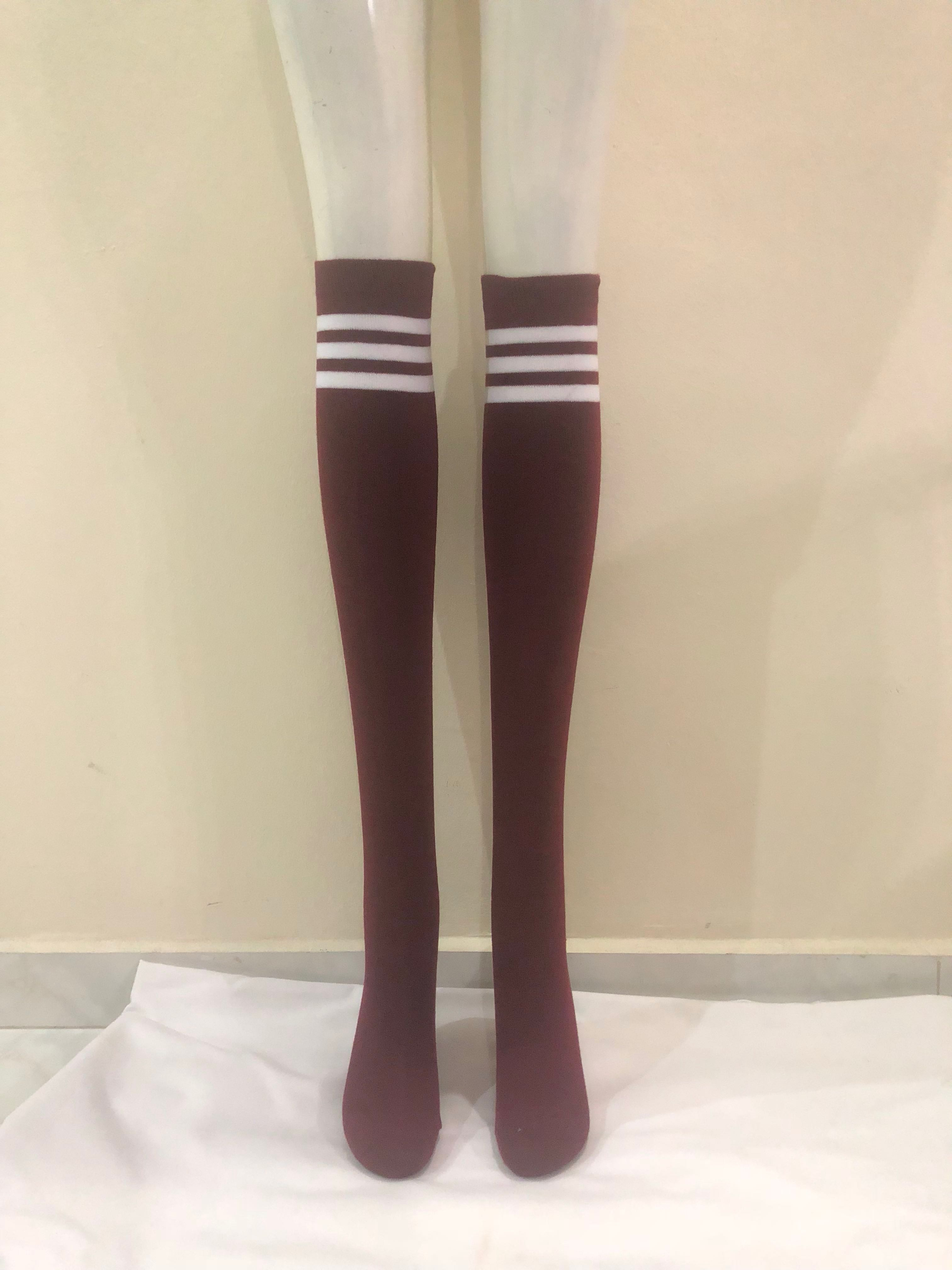f99528bf38e ZHOELUX   Striped Knee High Socks Thigh High Over The Knee Socks ...
