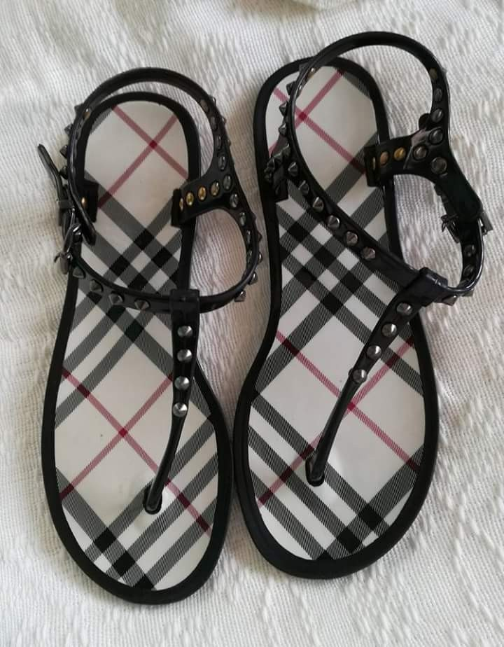 c8138911603 Authentic burberry studded jelly sandals