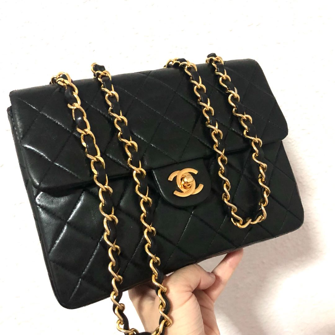 f22177e48b59 Authentic Chanel Square Mini with 24k Gold Hardware, Luxury, Bags ...