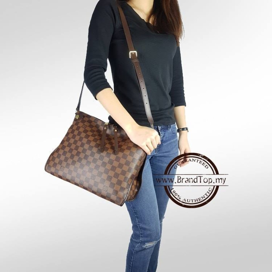 bde218ac67e1 Authentic Louis Vuitton Damier Ebene Duomo Crossbody N41425 LV ...
