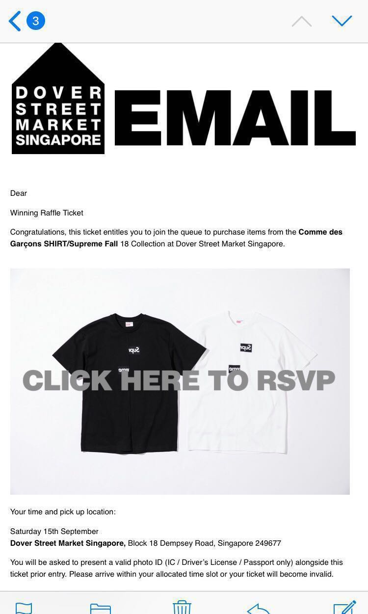 89f8ce9814aa BLACK BOGO HOODIE SUPREME X CDG WEEK 4 FW18 COLLECTION, Men's Fashion,  Clothes, Tops on Carousell