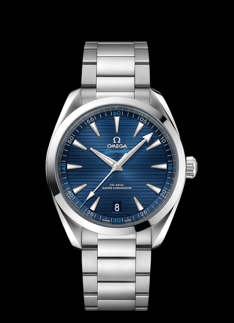 4d81f0b9cd8 Brand New 100% Authentic Omega SeaMaster Aqua Terra Dark Blue Dial ...