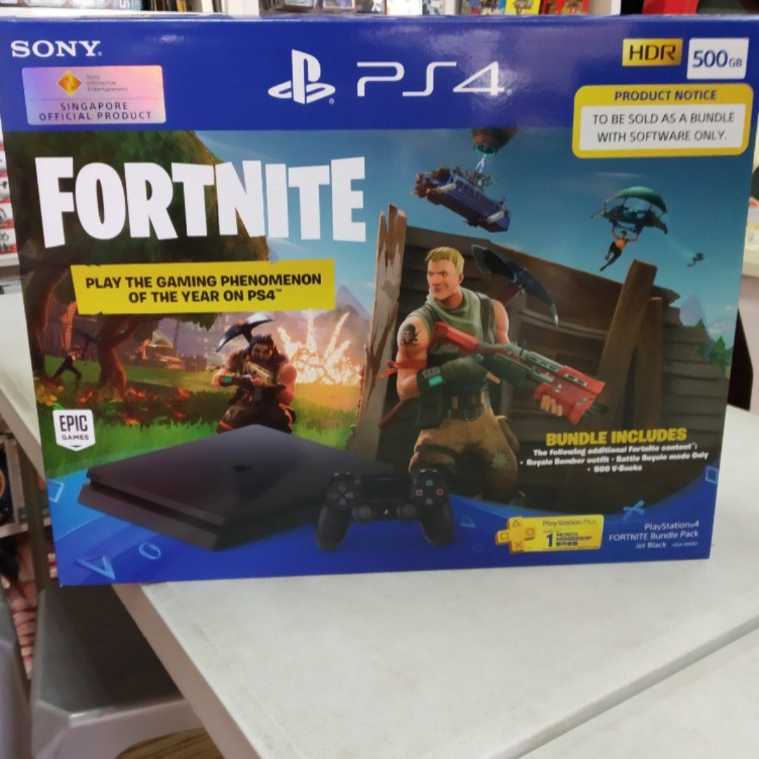 Brand New Ps4 500gb Slim Fortnite Bundle For Sale Toys Games Cuh 2006a Jet Black Extra Controller Ds4 Model Video Gaming Consoles On Carousell