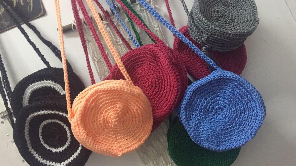 crochet round bag on Carousell