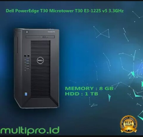 Dell PowerEdge T30 Microtower T30 E3-1225 v5 3 3GHz