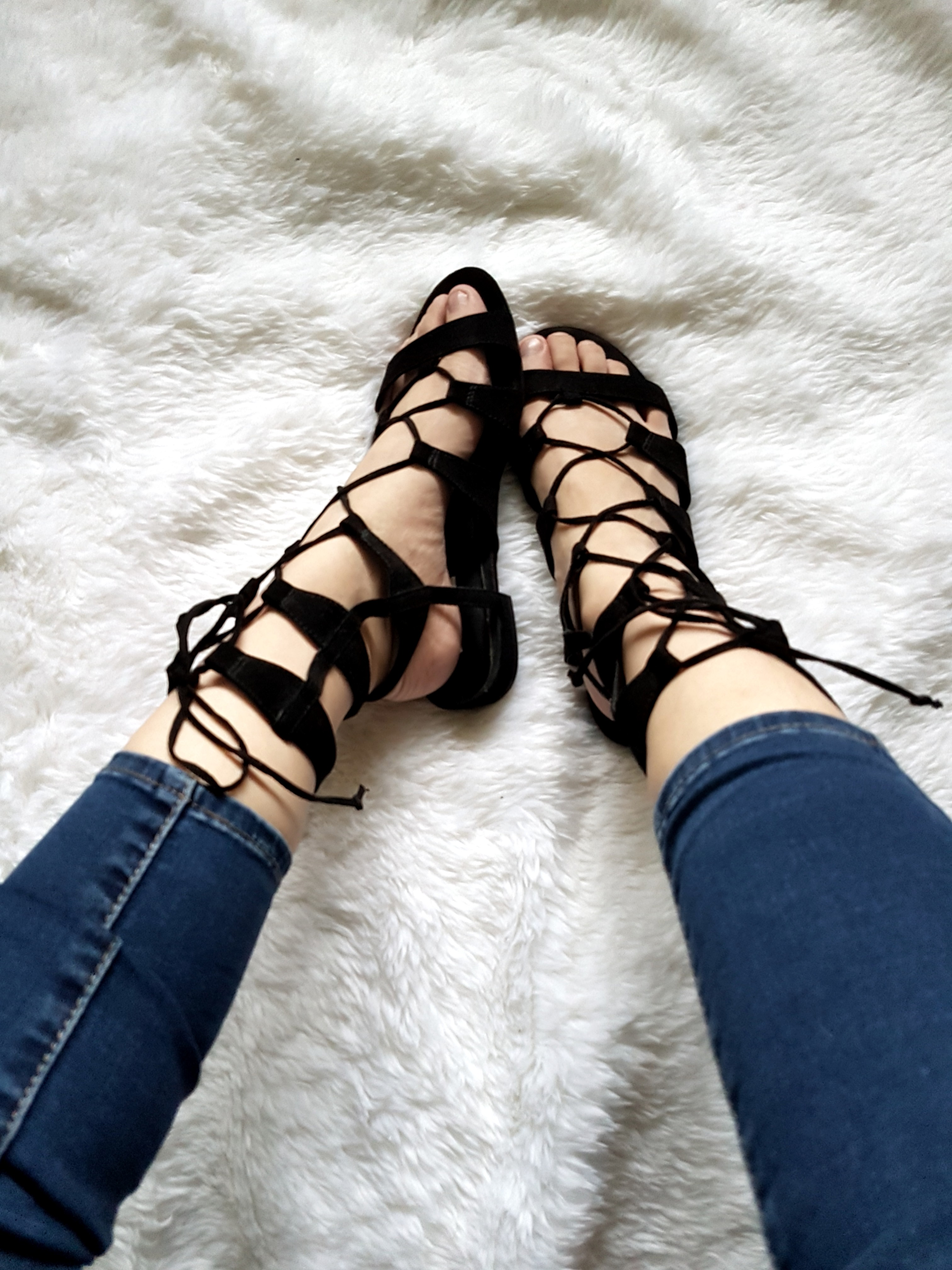 cd43b3a29c0f Forever 21 Gladiator Lace up Sandals