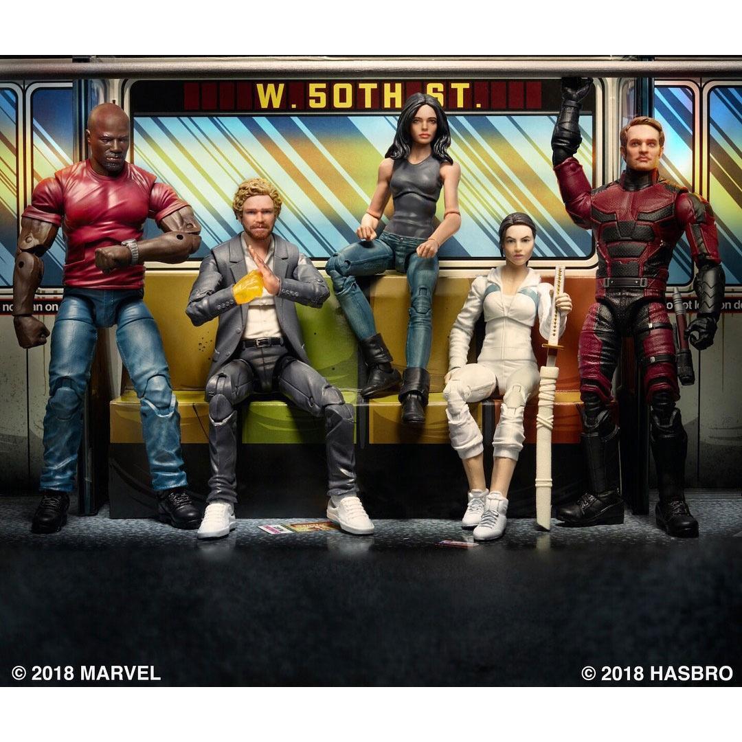 "Marvel SDCC 2018 6/"" Legends Series Defenders Rail Authority LUKE CAGE figure"