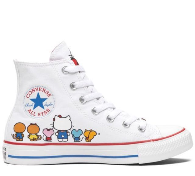 fcea24920bf8 Hello Kitty X Converse Chuck Taylor All Star High Cut Sneakers Shoes ...