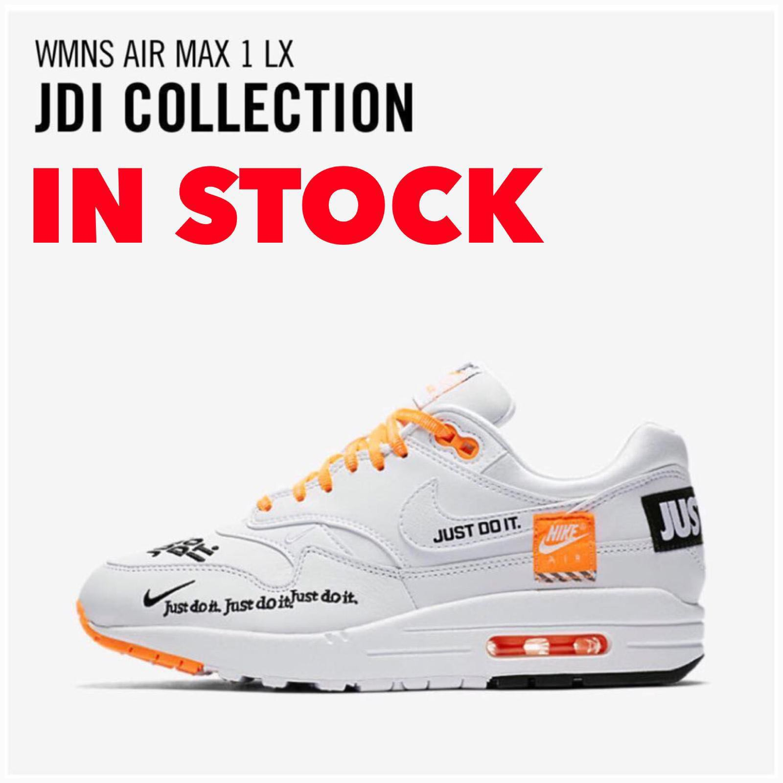 "4112dea8e92 In Stock Women s Nike Air Max 1 LX "" JUST DO IT "" COLLECTION"