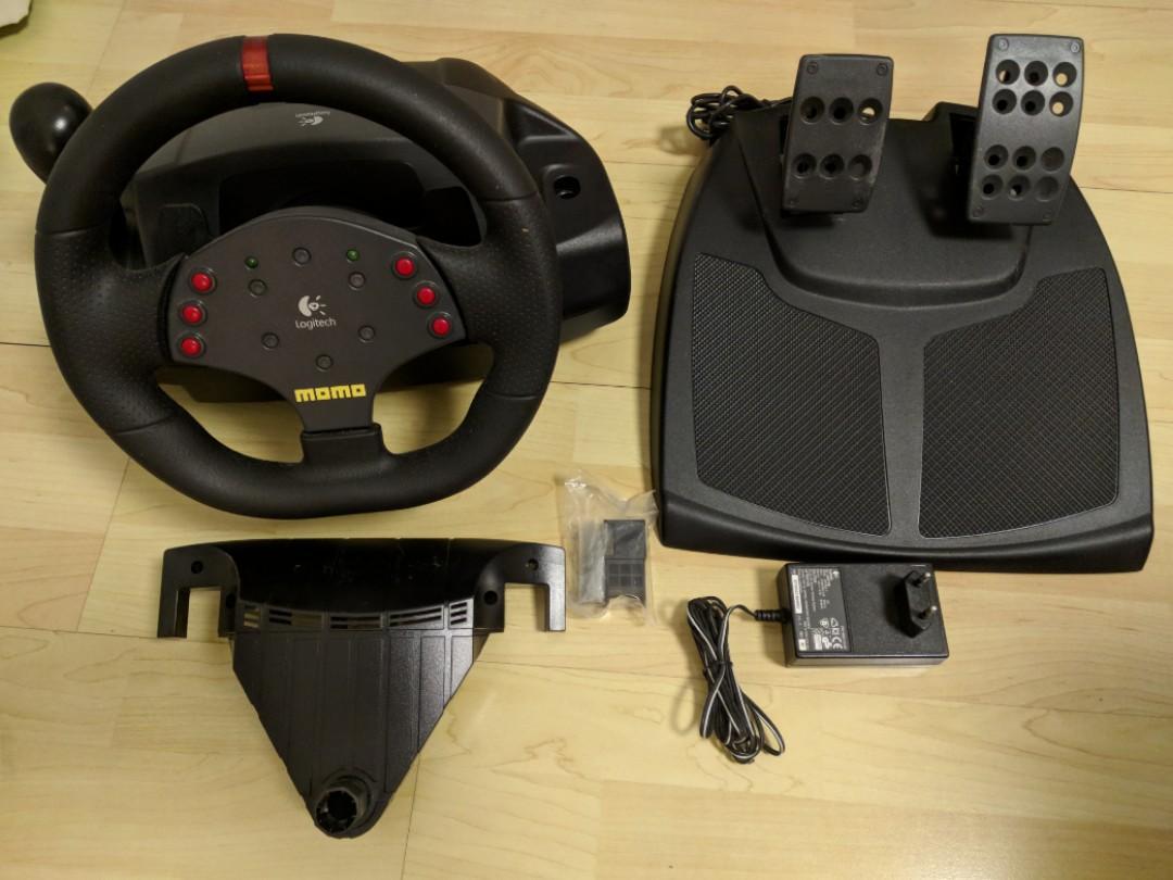 Logitech MOMO Racing Force Feedback Wheel, Toys & Games ...