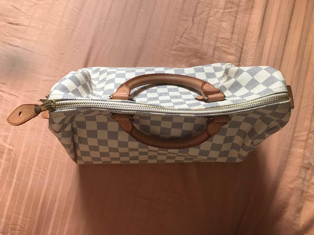 Louis Vuitton speedy 30 Damier Azur canvas handbag  a654aef7a5597